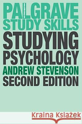 Studying Psychology A Stevenson 9780230517820 0