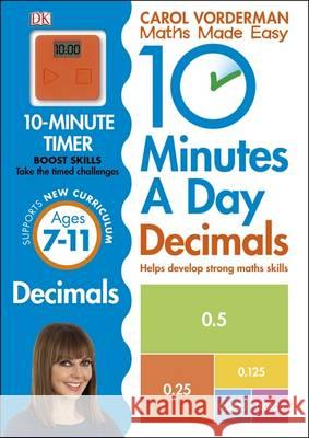 10 Minutes a Day Decimals Carol Vorderman 9780241182338