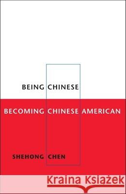 Being Chinese, Becoming Chinese American Shehong Chen 9780252073892