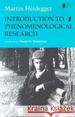 Introduction to Phenomenological Research Martin Heidegger Daniel O. Dahlstrom 9780253345707