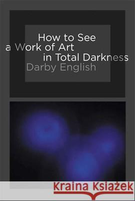 How to See a Work of Art in Total Darkness Darby English 9780262514934