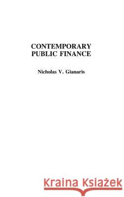 Contemporary Public Finance Nicholas V. Gianaris 9780275930448