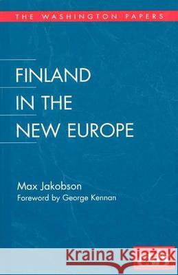 Finland in the New Europe Max Jakobson 9780275963712
