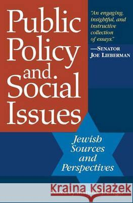 Public Policy and Social Issues : Jewish Sources and Perspectives Marshall J. Breger 9780275981655
