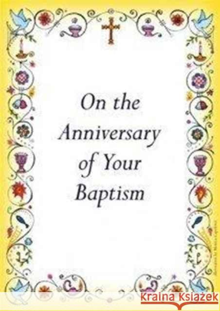 Anniversary of Baptism Card   9780281058617