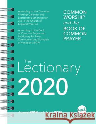 Common Worship Lectionary 2020: Spiral Bound Spck Spck 9780281081004