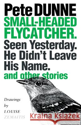 Small-headed Flycatcher. Seen Yesterday. He Didn't Leave His Name. : and other stories Pete Dunne Louise Zemaitis 9780292716001