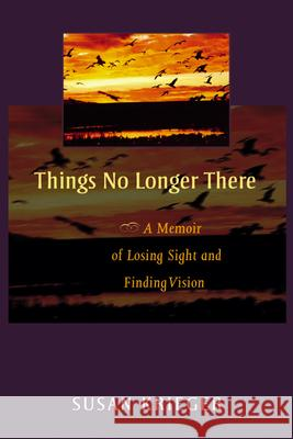 Things No Longer There : A Memoir of Losing Sight and Finding Vision Susan Krieger 9780299208646