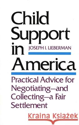Child Support in America : Practical Advice on Negotiating and Collecting a Fair Settlement Joseph I. Lieberman 9780300042108