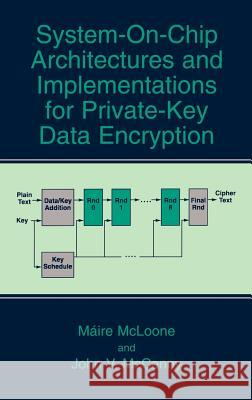 System-On-Chip Architectures and Implementations for Private-Key Data Encryption Maire McLoone John V. McCanny Mire McLoone 9780306478826