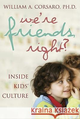 We're Friends, Right?: Inside Kids' Culture William A. Corsaro 9780309087292
