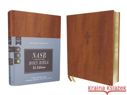 Nasb, Holy Bible, XL Edition, Leathersoft, Brown, 1995 Text, Comfort Print Zondervan 9780310109402