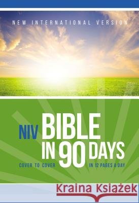 Bible in 90 Days-NIV: Cover to Cover in 12 Pages a Day Zondervan Publishing 9780310439400