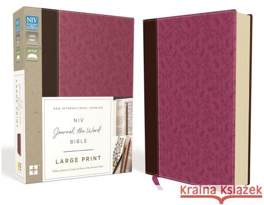 NIV, Journal the Word Bible, Large Print, Imitation Leather, Pink/Brown: Reflect, Journal, or Create Art Next to Your Favorite Verses  9780310445623