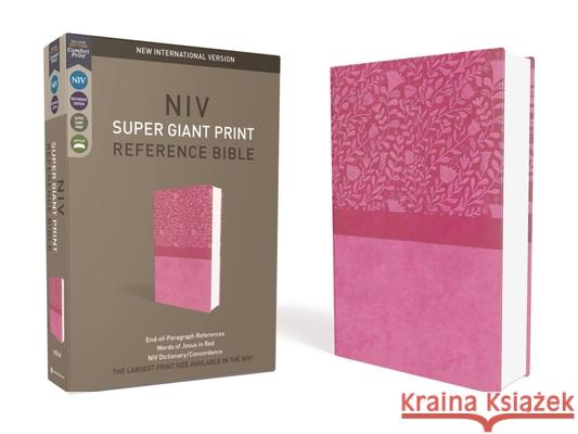 NIV, Super Giant Print Reference Bible, Giant Print, Imitation Leather, Pink, Red Letter Edition Zondervan 9780310445944