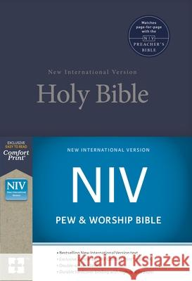 NIV, Pew and Worship Bible, Hardcover, Blue  9780310446279