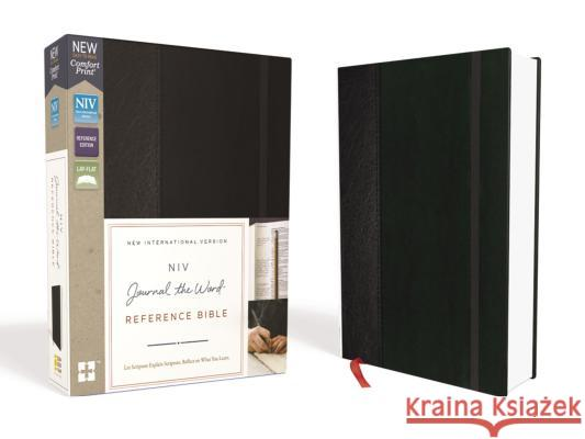 NIV, Journal the Word Reference Bible, Hardcover, Black, Red Letter Edition: Let Scripture Explain Scripture. Reflect on What You Learn. Zondervan 9780310449331