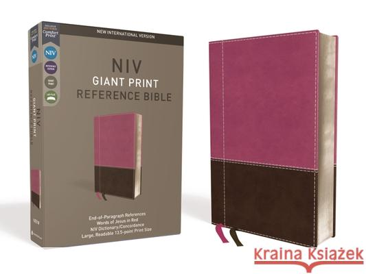 NIV, Reference Bible, Giant Print, Imitation Leather, Pink/Brown, Red Letter Edition, Comfort Print Zondervan 9780310449539