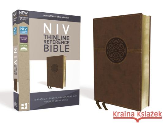 NIV, Thinline Reference Bible, Imitation Leather, Brown, Red Letter Edition, Comfort Print Zondervan 9780310449706