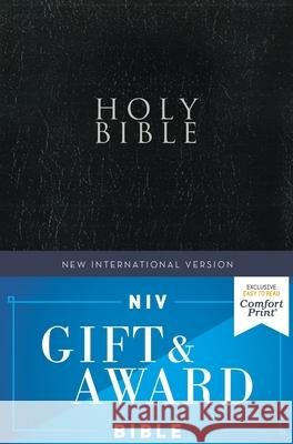 Niv, Gift and Award Bible, Leather-Look, Black, Red Letter Edition, Comfort Print Zondervan 9780310450375