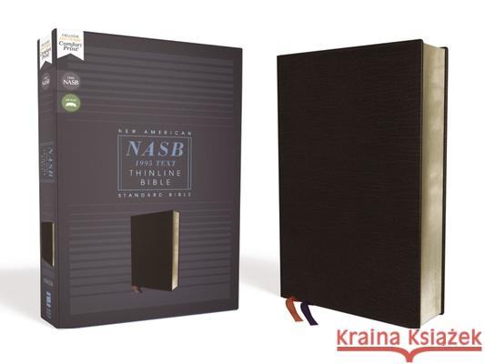Nasb, Thinline Bible, Bonded Leather, Black, Red Letter Edition, 1995 Text, Comfort Print  9780310450931