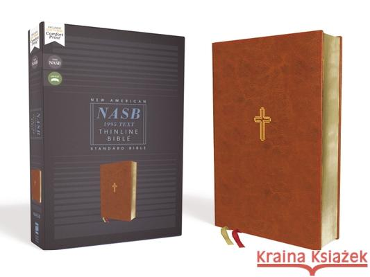 Nasb, Thinline Bible, Leathersoft, Brown, Red Letter Edition, 1995 Text, Comfort Print  9780310450962