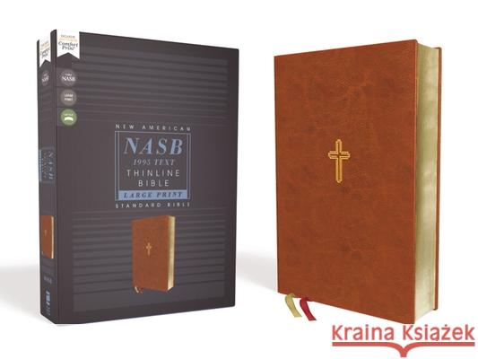 Nasb, Thinline Bible, Large Print, Leathersoft, Brown, Red Letter Edition, 1995 Text, Comfort Print  9780310451020