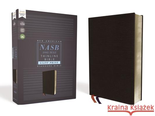 Nasb, Thinline Bible, Giant Print, Bonded Leather, Black, Red Letter Edition, 1995 Text, Comfort Print  9780310451075