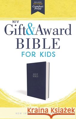 Niv, Gift and Award Bible for Kids, Flexcover, Blue, Comfort Print Zondervan 9780310765851