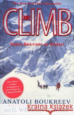 The Climb: Tragic Ambitions on Everest Anatoli Boukreev G. Weston Dewalt G. Weston Dewalt 9780312206376