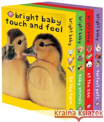 Bright Baby Touch & Feel Boxed Set: On the Farm, Baby Animals, at the Zoo and Perfect Pets Roger Priddy 9780312498726