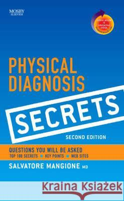 Physical Diagnosis Secrets Salvatore Mangione 9780323034678