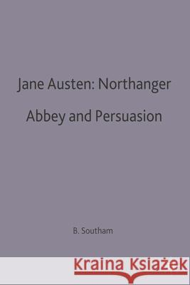 Jane Austen: Northanger Abbey and Persuasion  9780333192085