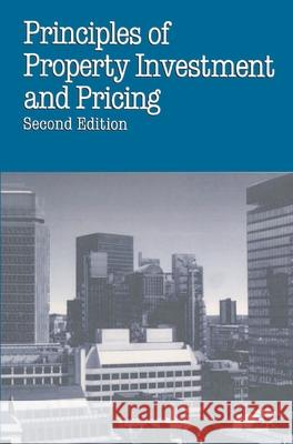 Principles of Property Investment and Pricing W. D. Fraser 9780333601624