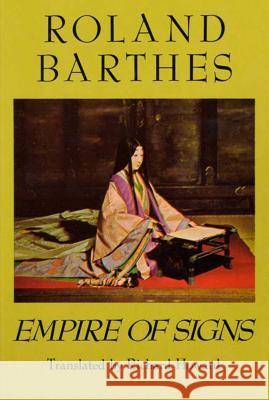 Empire of Signs Roland Barthes Richard Howard 9780374522070 Hill & Wang