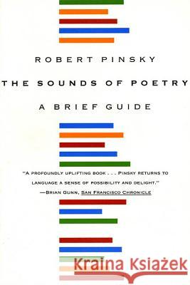 The Sounds of Poetry: A Brief Guide Robert Pinsky 9780374526177