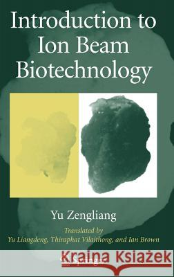 Introduction to Ion Beam Biotechnology Liangdeng Yu Ian Brown Thiraphat Vilaithong 9780387255316