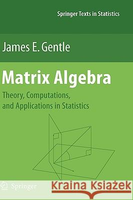 Matrix Algebra: Theory, Computations, and Applications in Statistics James E. Gentle 9780387708720 Springer