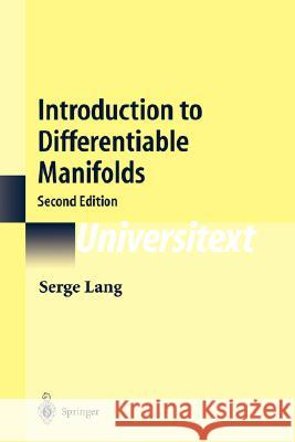 Introduction to Differentiable Manifolds Serge Lang 9780387954776