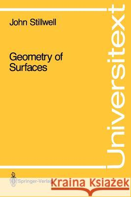 Geometry of Surfaces John Stillwell 9780387977430