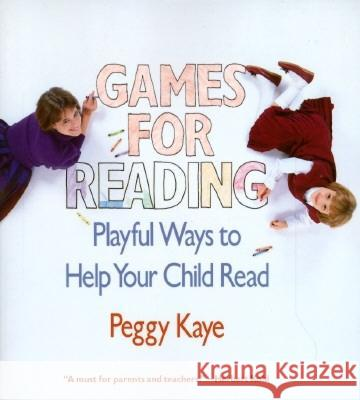 Games for Reading Peggy Kaye 9780394721491