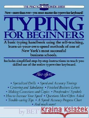 Typing for Beginners Betty Owen Patricia Malkin 9780399511479
