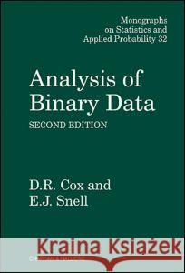 Analysis of Binary Data, Second Edition D. R. Cox Cox                                      Cox Cox 9780412306204