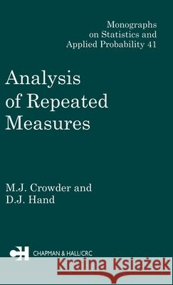 Analysis of Repeated Measures M. J. Crowder Crowder                                  Crowder J. Crowder 9780412318306