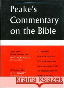 Peake's Commentary on the Bible Matthew Black Harold Henry Rowley 9780415051477