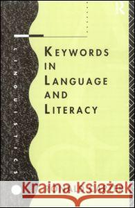 Keywords in Language and Literacy Ronald Carter 9780415119290