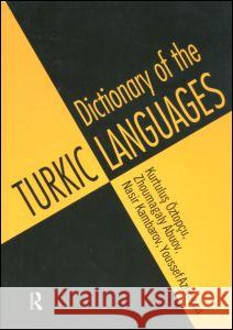 Dictionary of Turkic Languages Kurtulus Oztopcu Youssef Azemoun Nasir Kambarov 9780415160476