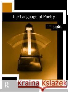 LANGUAGE OF POETRY John Mcrae 9780415169288