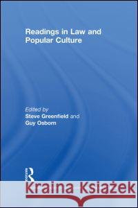 Readings in Law and Popular Culture Steven Greenfield 9780415651349