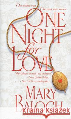 One Night for Love Mary Balogh 9780440226000